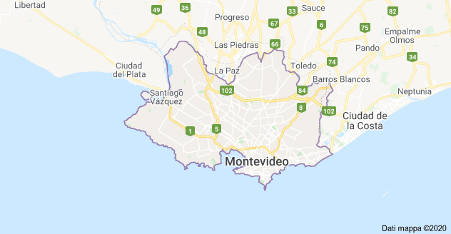 mappa montevideo