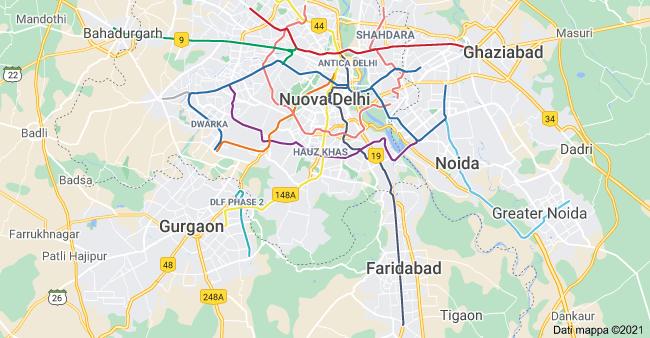 mappa nuova delhi