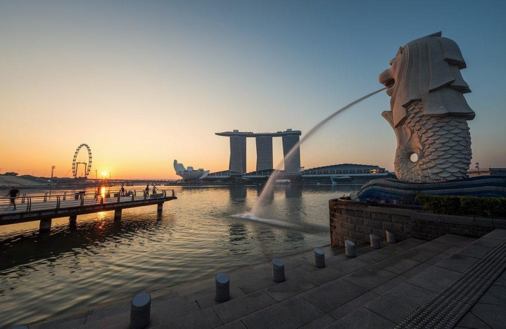 merlion di singapore foto